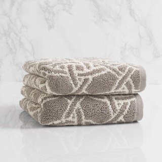 Natori Dynasty Medallion Jacquard Hand Towel (set of 2)