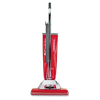 Sanitaire Widetrack Commercial Upright Vacuum with Vibra Groomer 16-inch Path 18.5lb Red