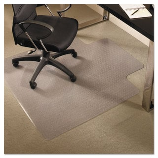ES Robbins EverLife Chair Mats For Medium Pile Carpet With Lip 36 x 48 Clear