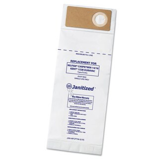 Janitized Vacuum Filter Bags Designed to Fit Nilfisk CarpeTwin Upright 14/18/Advac 100/CS
