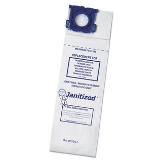 Janitized Vacuum Filter Bags Designed to Fit Windsor Sensor/2/XP/Versamatic Plus 100/Case