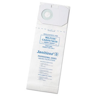Janitized Vacuum Filter Bags Designed to Fit Nilfisk CarpeTwin Upright 16XP/20XP 100/Case