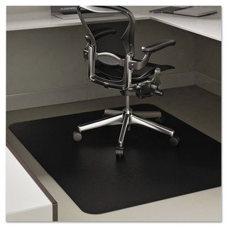 deflecto EconoMat Anytime Use Chair Mat for Hard Floor 45 x 53 Black