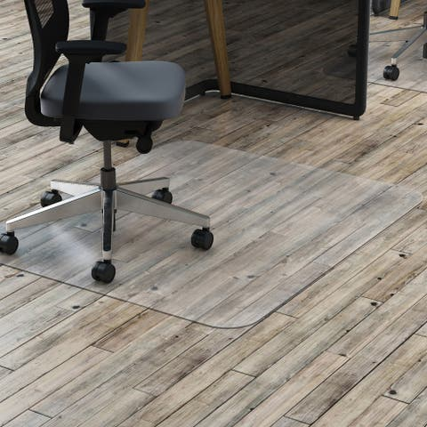 deflecto Clear Polycarbonate All Day Use Chair Mat for Hard Floor 36 x 48