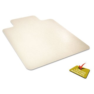 deflecto EnvironMat Recycled Anytime Use Chair Mat for Hard Floor 45 x 53 with Lip Clear