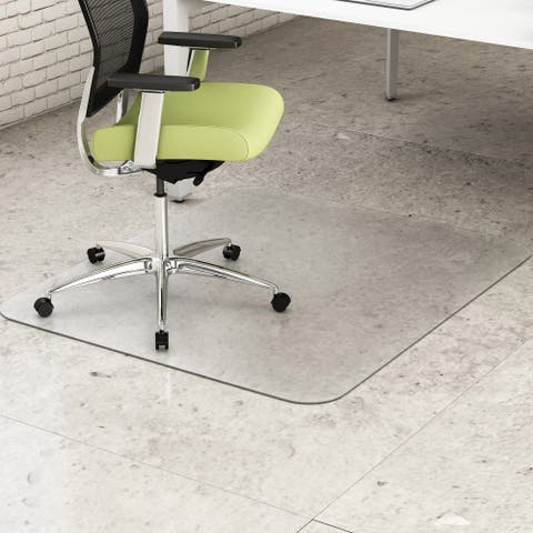 deflecto EnvironMat Recycled Anytime Use Chair Mat for Hard Floor 36 x 48 Clear