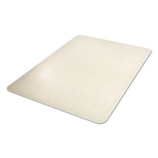 deflecto EnvironMat Recycled Anytime Use Chair Mat for Med Pile Carpet 36 x 48 Clear