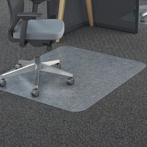 deflecto Clear Polycarbonate All Day Use Chair Mat for All Pile Carpet 46 x 60