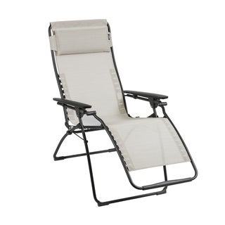 Lafuma Futura Black Steel Frame Zero Gravity Recliner With Galet Batyline  Duo Fabric Part 47