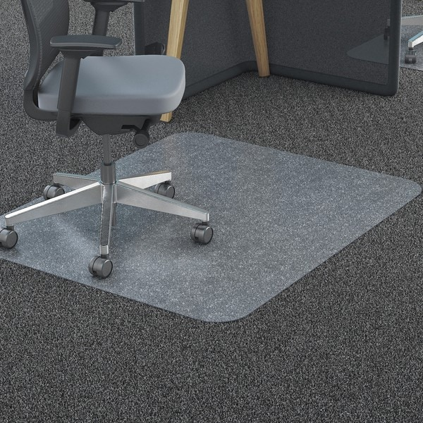 Shop Deflecto Clear Polycarbonate All Day Use Chair Mat For All Pile