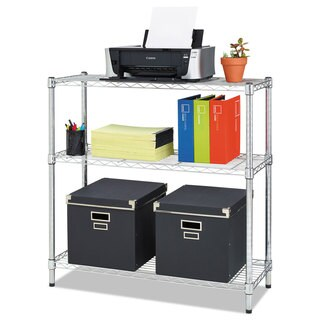 Alera Residential Wire Shelving Three-Shelf 36-inch wide x 14-inch deep x 36-inch high Silver