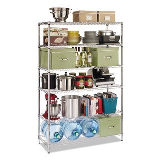 Alera Commercial Wire Shelving Six-Shelf 48-inch wide x 18-inch deep x 72-inch high Silver