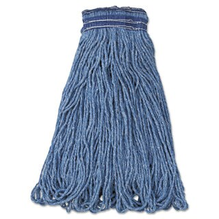 Rubbermaid Commercial Universal Headband Mop Head Cotton/Synthetic 24oz Blue 12/Carton