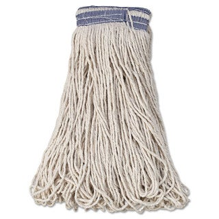 Rubbermaid Commercial Universal Headband Mop Head Cotton White 32oz 1-inch Blue Band 12/Carton