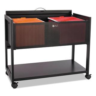 Safco Locking Top Mobile Tub File One-Shelf 33-1/4-inch wide x 17-inch deep x 27h Black