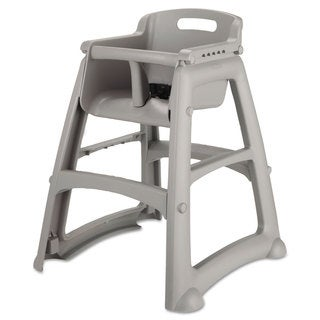 Rubbermaid Commercial Sturdy Chair Youth Seat Plastic 23 3/8-inch wide x 23 1/2-inch deep x 29 3/4-inch high Platinum