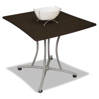 Linea Italia Trento Line Palermo Table 33-inch wide x 31-1/2-inch deep x 29-1/2-inch high Mocha/Grey
