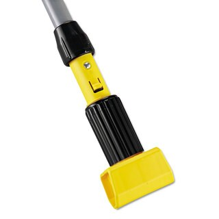 Rubbermaid Commercial Gripper Vinyl-Covered Aluminum Mop Handle 1 1/8 dia x 54 Grey/Yellow