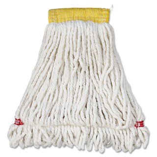 Rubbermaid Commercial Web Foot Wet Mop Head Shrinkless Cotton/Synthetic White Small 6/Carton