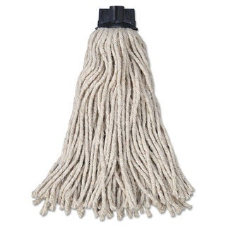 Rubbermaid Commercial Replacement Mop Head For Mop/Handle Combo Cotton White 12/Carton