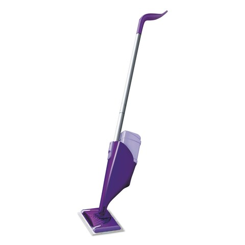 Swiffer WetJet Mop Starter Kit 46-inch Handle Silver/Purple 2/Carton