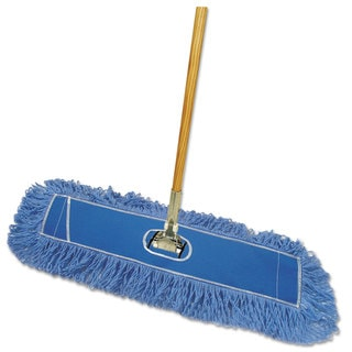 Boardwalk Looped-End Dust Mop Kit 36 x 5 60-inch Metal/Wood Handle Blue/Natural