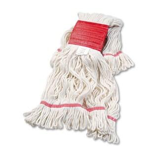 Boardwalk Super Loop Wet Mop Head Cotton Synthetic Medium Size Green 12 Carton