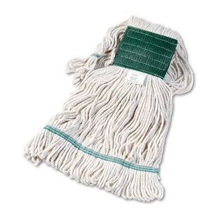 Boardwalk Super Loop Wet Mop Head Cotton/Synthetic Medium Size White 12/Carton
