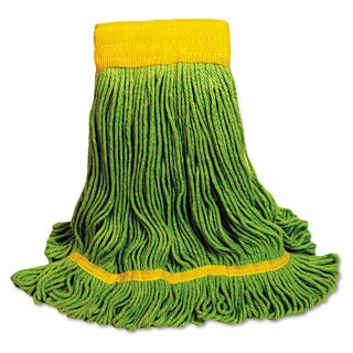 Boardwalk EcoMop Looped-End Mop Head Recycled Fibers Medium Size Green 12/Carton