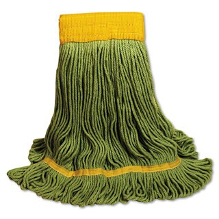 Boardwalk EcoMop Looped-End Mop Head Recycled Fibers Large Size Green 12/Carton