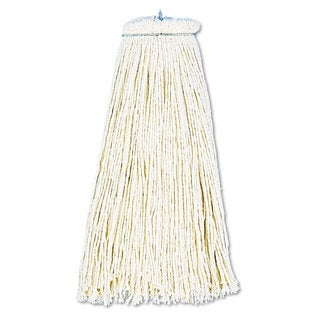 Boardwalk Cut-End Lie-Flat Wet Mop Head Cotton 16oz White 12/Carton