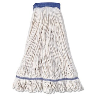 Boardwalk Mop Head Super Loop Head Cotton/Synthetic Fiber X-Large White 12/Carton