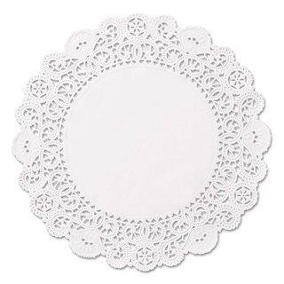 Hoffmaster Brooklace Lace Doilies Round 5 inches White 2000/Carton