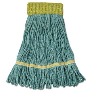 Boardwalk Mop Head Super Loop Head Cotton/Synthetic Fiber Small Green 12/Carton
