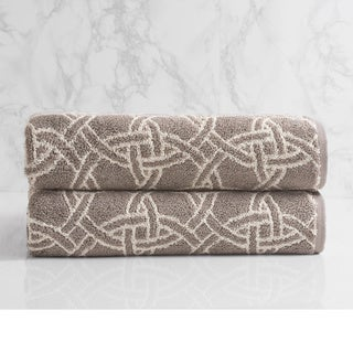 Natori Dynasty Medallion Jacquard Bath Towel (set of 2)