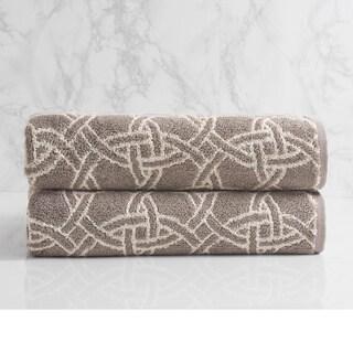 Natori Dynasty Medallion Jacquard Bath Towel
