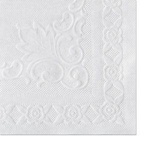 Hoffmaster Classic Embossed Straight Edge Placemats 10 x 14 White 1000/Carton