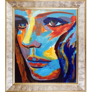 Helena Wierzbicki 'Between Herself and the World' Hand Painted Framed Oil Reproduction on Canvas