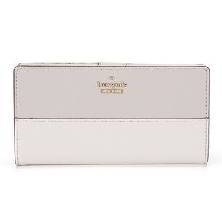 Kate Spade New York Cameron Street Stacy Nouveau Neutral/Light Shale Leather Wallet