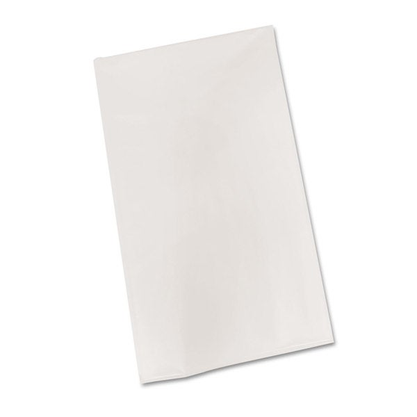 Tablemate Plastic Table Cover 54-inch x 108-inch White 6/Pack