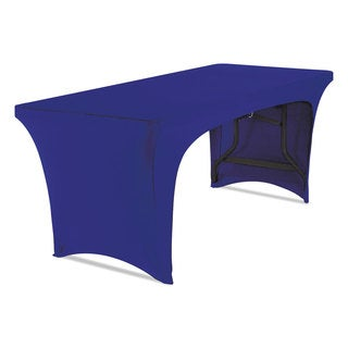 Iceberg Stretch-Fabric Table Cover Polyester/Spandex 30 inches x 72 inches Blue