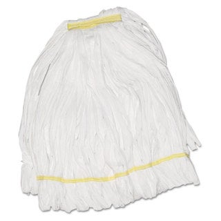 Boardwalk Mop Head Looped Enviro Clean With Tailband Large White 12/Carton
