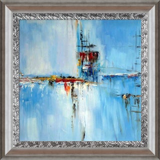 Elwira Pioro 'Off Shore' Hand Painted Framed Oil Reproduction on Canvas
