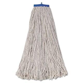 Boardwalk Mop Head Economical Lie-Flat Head Cotton Fiber 32oz White 12/Carton
