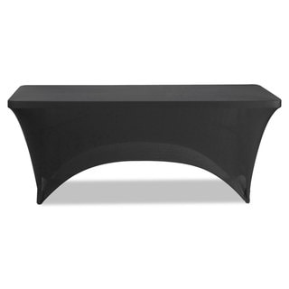 Iceberg Stretch-Fabric Table Cover Polyester/Spandex 30 inches x 72 inches Black