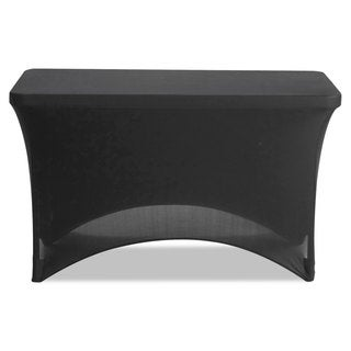 Iceberg Stretch-Fabric Table Cover Polyester/Spandex 24-inch x 48-inch Black