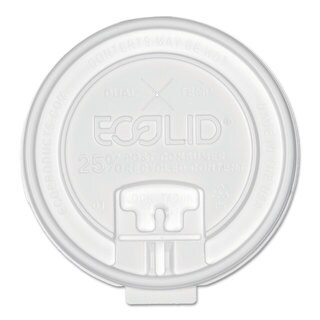 Eco-Products 25-percent Recy Content Dual-Temp Lk Tab Lid with Straw Slot 20-ounce Insul 50/Pack 12 Pack/Carton