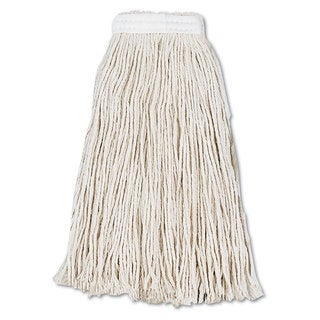 Boardwalk Cut-End Wet Mop Head Cotton No. 16 White 12/Carton
