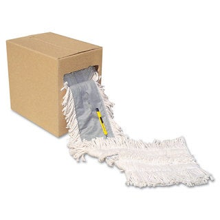 Boardwalk Flash Forty Disposable Dustmop Cotton 5 inches Natural