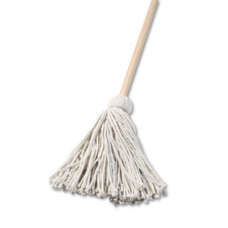 Boardwalk Deck Mop 48-inch Wooden Handle 16-ounce Cotton Fiber Head